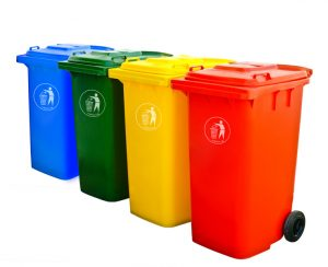 Garbage Bin 240 liter with Pedal and wheels