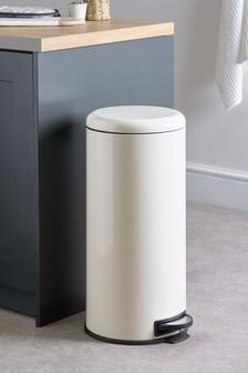 White pedal bin 30 liter - Hydraulic slow motion