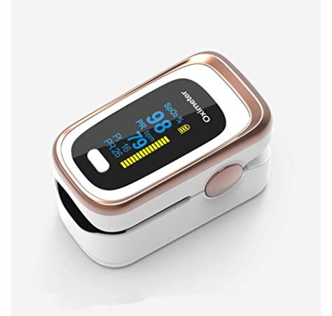 Premium Fingertip Clip SpO2 Counter Body Health Monitor, Pulse Oximeter Activity Tracker, Fitness and Activity Monitor, Real-time Tracking and Monitoring, White Gold