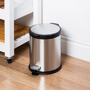 Stainless steel pedal bin 12 liter