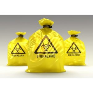 Yellow Infectious Linen High Density Isolation Medical Waste Bag/Biohazard Bag - 1 kg size 50x60 cm