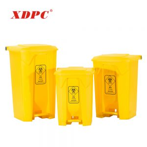 Plastic dustbin 80 liter with pedal