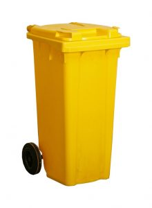 Garbage Bin 120 liter with Pedal and wheels