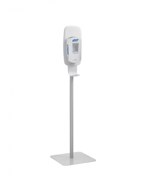 PURELL 2424-DS Floor Stand for TFX Touch Free Instant Hand Sanitizing Dispenser, Light Gray