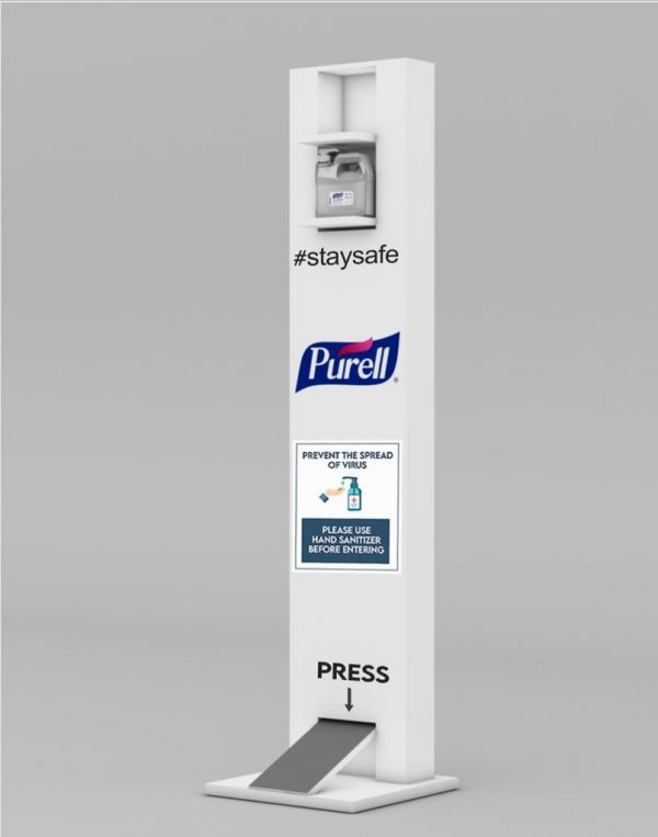 PURELL hand sanitizer foot operated stand ( PURELL bottle 1.9L sold separately )