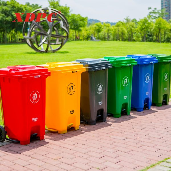 Plastic dustbin 240 liter with Pedal and wheels