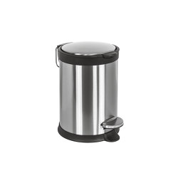 Stainless steel pedal bin 20 liter - Hydraulic slow motion