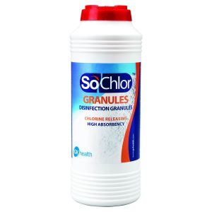 SoChlor NaDCC Absorbent Granules for Biohazard Spills 500g