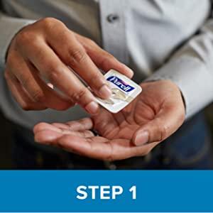PURELL SINGLES Advanced Hand Sanitizer Gel, Fragrance Free