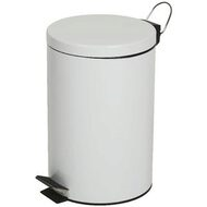 White pedal bin 12 liter - Hydraulic slow motion