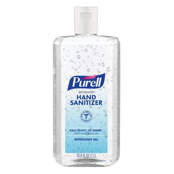 PURELL Advanced Hand Sanitizer Refreshing Gel, Clean Scent, 1 Liter Bottle