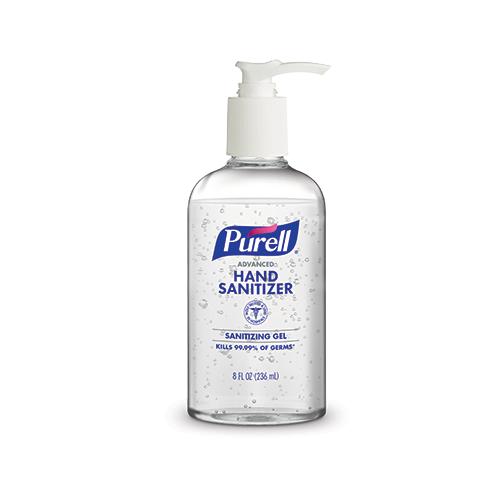 Purell Advanced Hand Sanitizer Gel 236ml Table Top - Boston Bottle New design