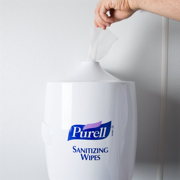 PURELL® White Dispenser Wall Mounted for PURELL Sanitizing Wipes Refill