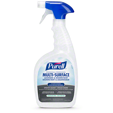PURELL PROFESSIONAL MULTI-SURFACE SANITIZER & DISINFECTANT RTU – BOTTLES CAPPED & SEALED WITH TRIGGERS 946ML