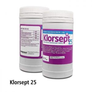 Klorsept 25 Effervescent Disinfectant Tablets 300 pcs