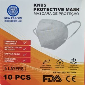 KN95 PROTECTIVE FACE MASK 10 PCS - 5 LAYERS