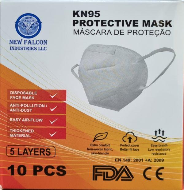 KN95 PROTECTIVE FACE MASK 10 PCS - 5 LAYERS