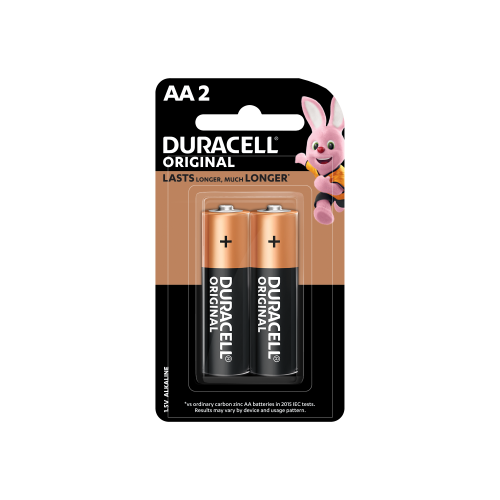 Duracell AA Alkaline Batteries 2 COUNT