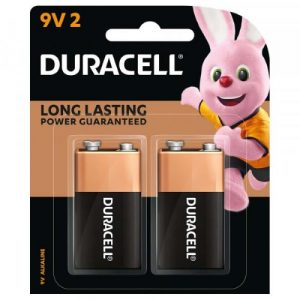 DURACELL 9V Batteries 2 COUNT