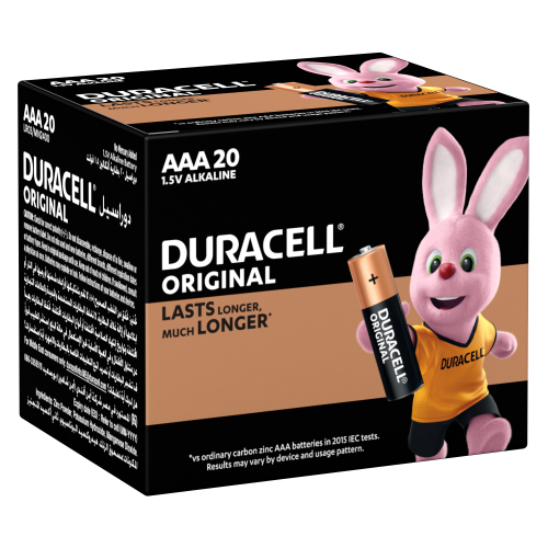 DURACELL AAA Batteries 20 COUNT