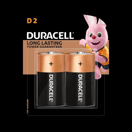 DURACELL D2 MONET BATTERIES 2 COUNTS